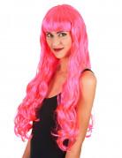 Langhaar Perücke rosa für Damen