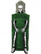 Skelett-Kostüm Grabstein für Erwachsene