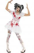 Horrorpuppe Zombie Halloween Kostüm für Damen