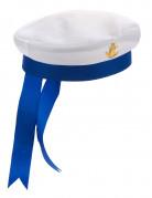 Matrosenhut für Erwachsene Seefahrer weiss-blau