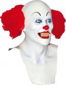 Böser Clown Maske weiss Erwachsene Halloween