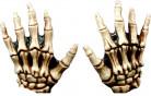 gelbe Skelett Handschuhe Halloween für Erwachsene