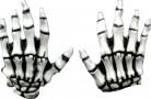 Wei?e Skelett Handschuhe Halloween für Erwachsene