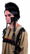 Indianer-Perücke mit Zöpfen für Erwachsene