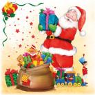 20 Weihnachtsmann Servietten