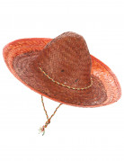 Orangefarbener mexikanischer Sombrero für Erwachsene