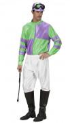 Grün-lila Jockey-Kostüm für Herren