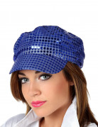 Blaue Disco-Kappe für Erwachsene