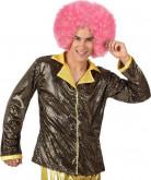 Glänzende goldene Disco-Jacke für Herren