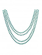 4 metallic-grüne Halsketten