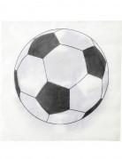Fussball-Servietten 20 Stück schwarz-weiss