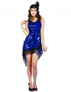Sexy Charleston Dress mit blauen Pailletten für Damen