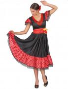 Gepunktetes Flamenco-Tänzerinnen-Kostüm für Damen