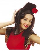 Spanischer Kopfschmuck mit Schleier und Rose für Damen