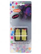 6 neonfarbene UV-Wachsmalstifte 7,2g