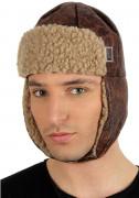 Braune Flieger-Mütze für Erwachsene