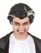 Schwarz-weiße Vampir-Perücke für Herren