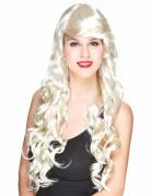 Blonde Glamour-Langhaar-Perücke mit Locken für Damen