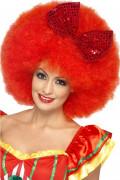 Rote Afro-Clown-Perücke für Erwachsene
