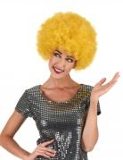 Gelbe Komfort Disco Afro-Perücke für Erwachsene