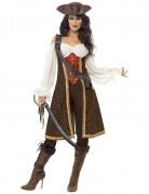 Braunes Seeräuber-Kostüm für Damen
