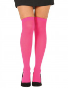 Neonrosa Overknee-Strümpfe für Damen