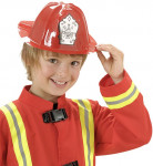 Roter Feuerwehr-Helm