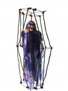 Skelett im Käfig - leuchtende Hängedeko