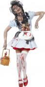 Halloween Zombie-Rotkäppchen-Kostüm für Damen