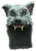 Graue Wolfsmaske für Erwachsene