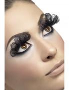 Schwarze Wimpern mit Schleier für Damen