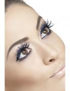 Blaue Spinnennetz-Wimpern für Damen