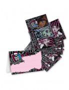 4 Monster High™ -Einladungskarten und Umschläge