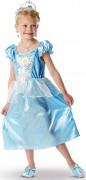 Blaues Cinderella™-Kostüm mit Krone für Mädchen