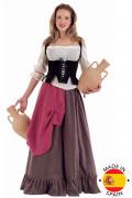 Mittelalterliches Wirts-Kostüm für Damen