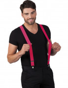 Hosenträger mit Metallclips für Erwachsene rosa