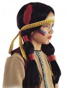 Indianer-Perücke mit Feder für Kinder