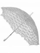Weißer Sonnenschirm aus Spitze