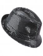 Schwarzer Glitzer-Hut für Erwachsene