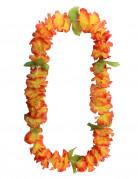 Hawaii Halskette aus orangefarbenen Blumen