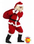 Weihnachtsmann-Kostüm aus Plüsch für Herren