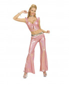 Rosa Disco-Oberteil für Damen