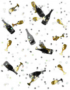 Silvester Konfetti Sektflaschen 14g