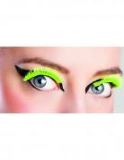 Künstliche kurze Wimpern neongrün