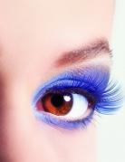 Blaue falsche Wimpern