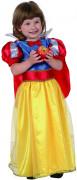 Märchen Prinzessin Kinderkostüm für Mädchen blau-rot-gelb