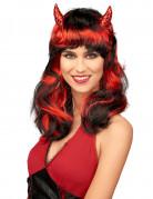 Rote Teufelinnen-Perücke für Damen