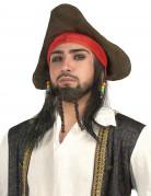 Piratenperücke mit Hut für Herren