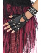 Punk-Armband schwarz für Erwachsene