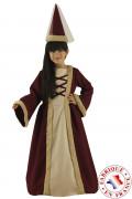 Mittelalterliche Jungfer Kostüm für Mädchen